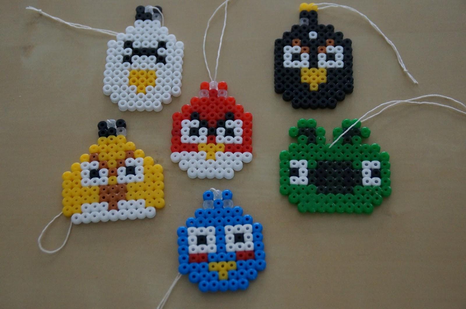 Farbenfrohe Kinkerlitzchen Bügelperlen Angry Birds