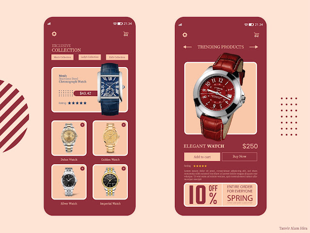 Luxury Watch Shop UI