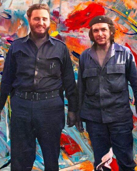 Fidel Castro and Che Guevara height comparison