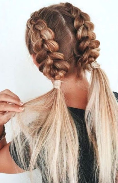 French Braid Medium Length Hairstyles -  Medium Length Hairstyle and Haircuts For Women