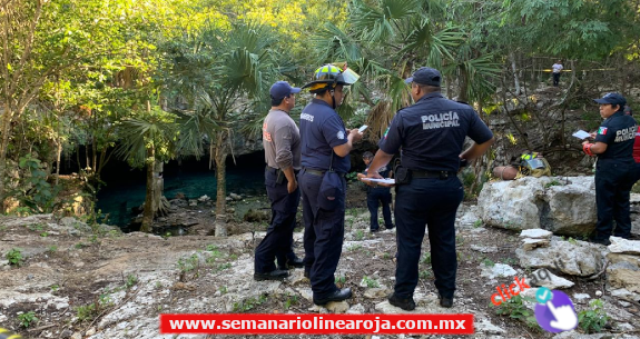 Hallan cadáver humano en un cenote de Puerto Aventuras