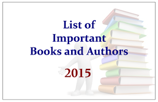 List of Important Books and its Authors