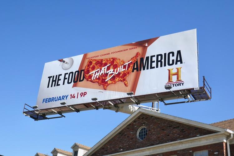Food That Built America season 2 billboard