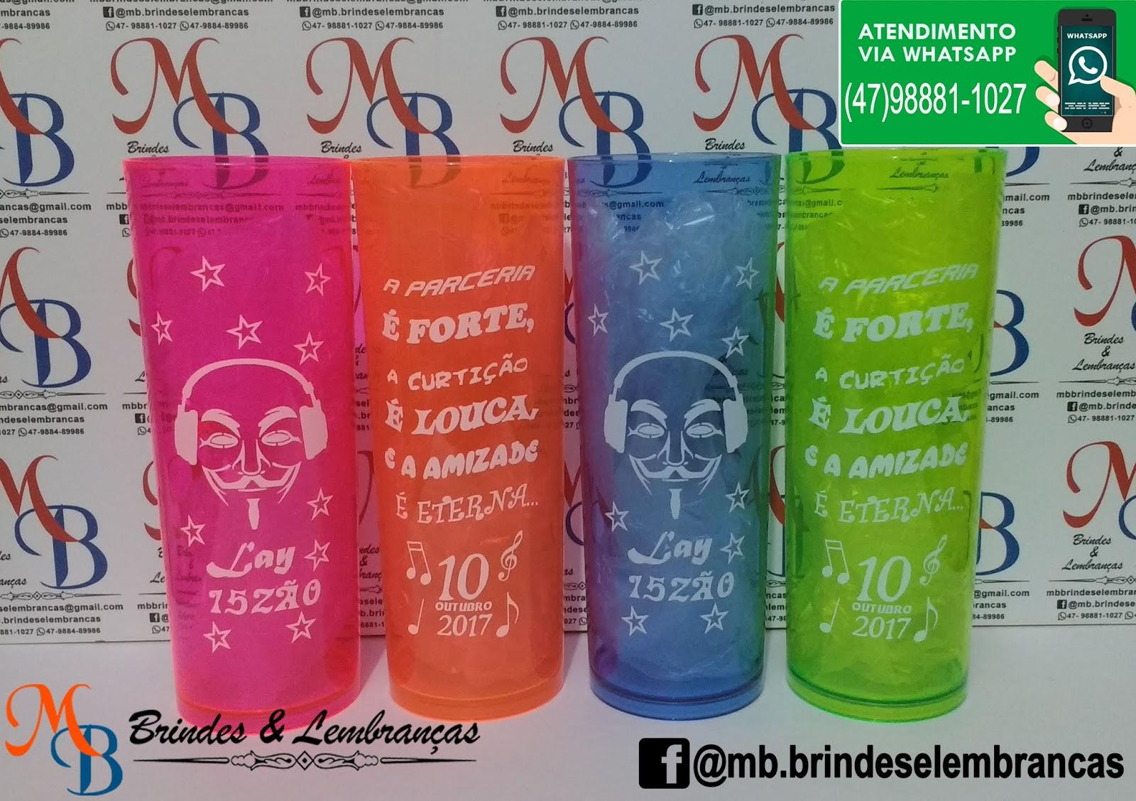 Copos Personalizados Aniversario 15 Anos Joinville Sc Mb Brindes E