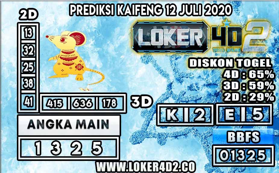 PREDIKSI TOGEL KAIFENG LOKER4D2 12 JULI 2020