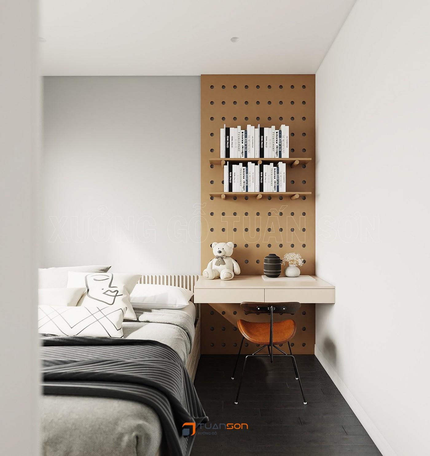 Thiết kế nội thất căn hộ 63m2 (2PN+2WC) S1.11-5A Vinhomes Ocean Park Gia Lâm