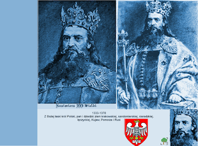 Kazimierz III Wielki, niebieski, błękit, błękitny
