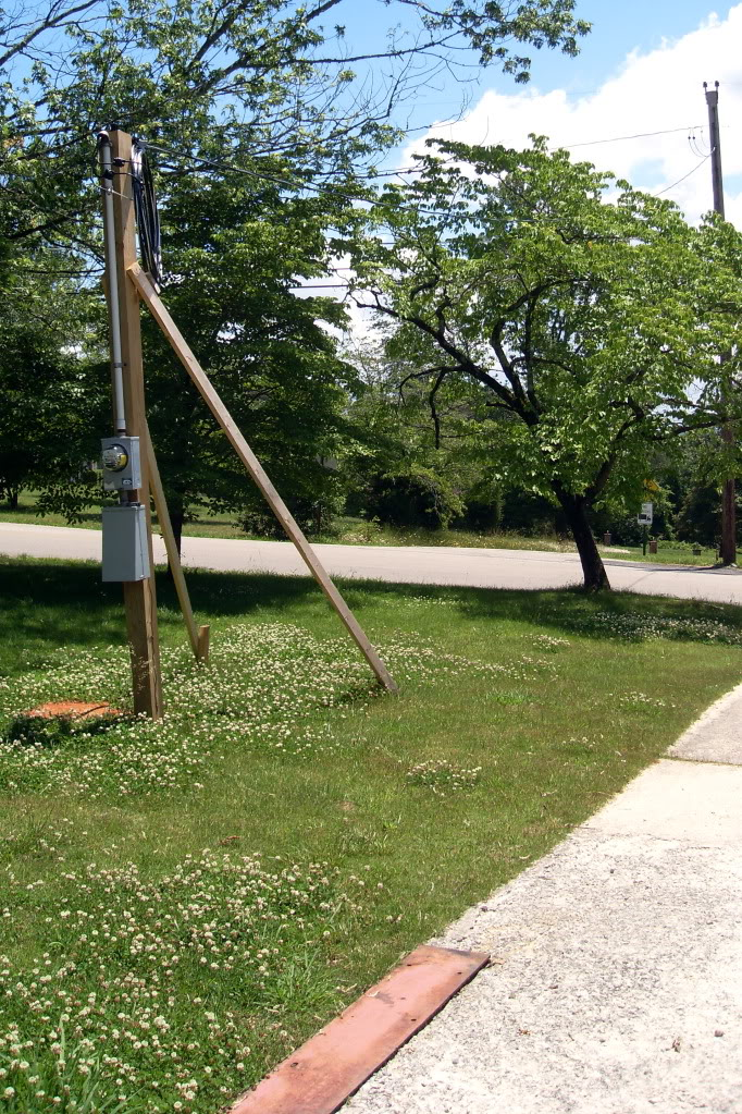 Remote Electrical Meter Service Permanent : Temporary service pole installation in toronto