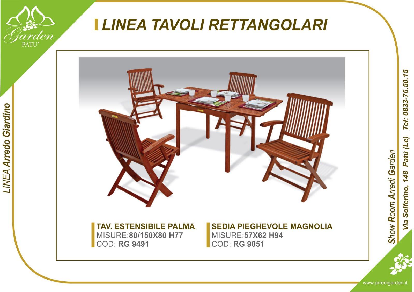 Arredo giardino italia arredo giardino pat tavoli in for Italia arredo
