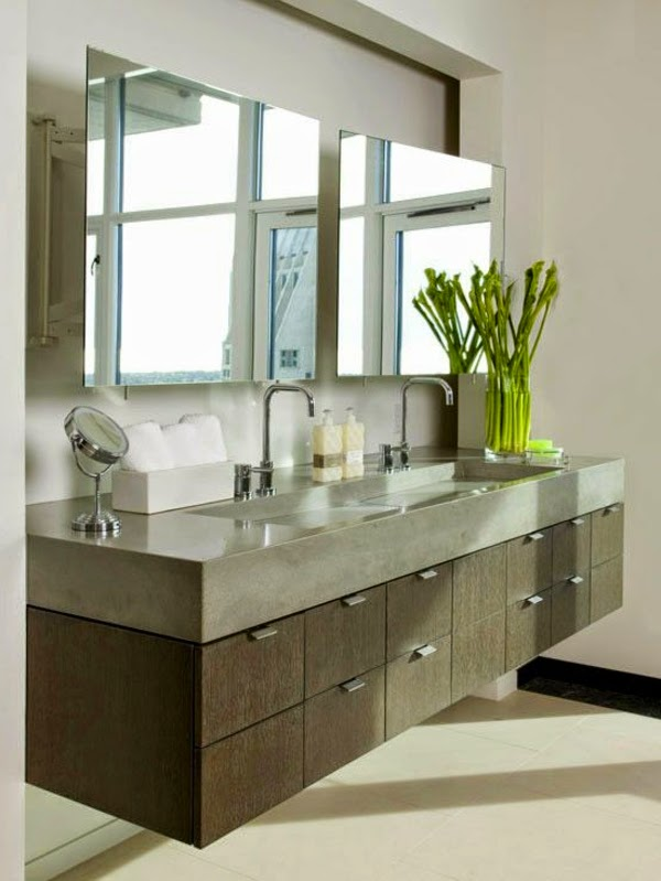 10 Ideas of double sink vanity cabinets in bathroom interior
