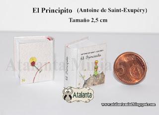 El Principito libro miniatura - minibook Petit Prince