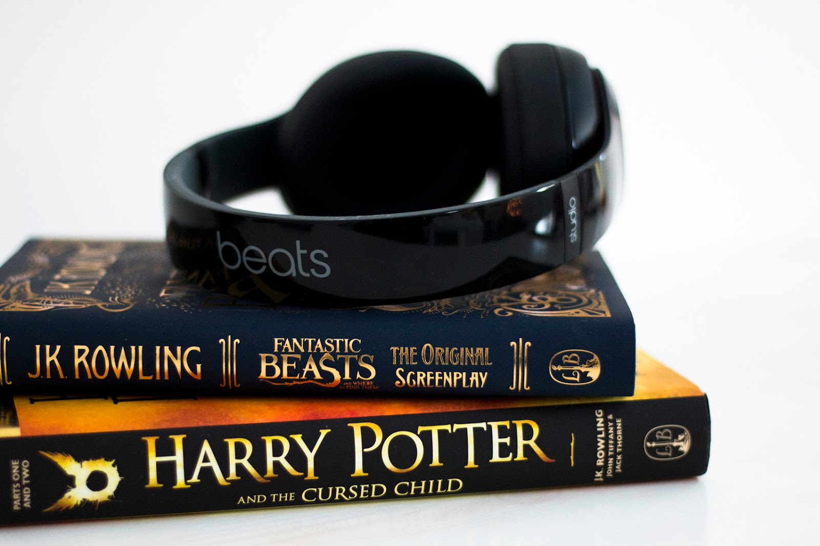 Beats headphones and books