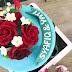 kek hantaran tunang fondant  / engagement fondant cake