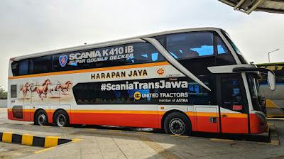 Foto Bus Harapan Jaya Tingkat Scania K410iB