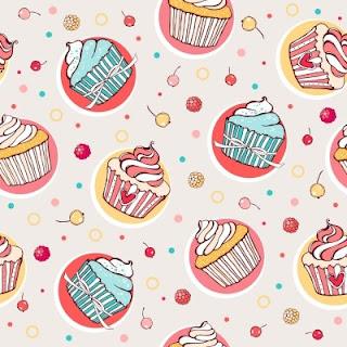 Fondo de cupcakes.