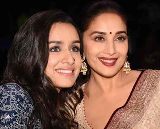 Shraddha Kapoor With Madhuri Dixit
