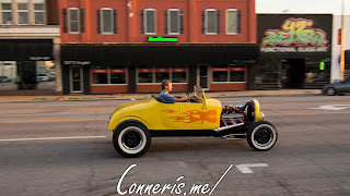 Flames on Yellow Hot Rod