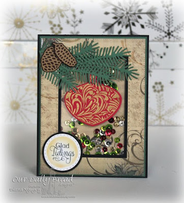 Our Daily Bread Designs, Delightful Decorations, Double Stitched Rectangles Dies, Rectangle Dies, Splendorous Stars, Pinecones, Lovely Leaves, Delightful Decorations, Double Stitched Circles dies, Christmas Collection 2013, Designed by Diana Nguyen