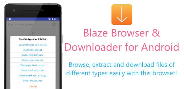 برنامج Blaze : Extract Files From Links To Download للأندرويد