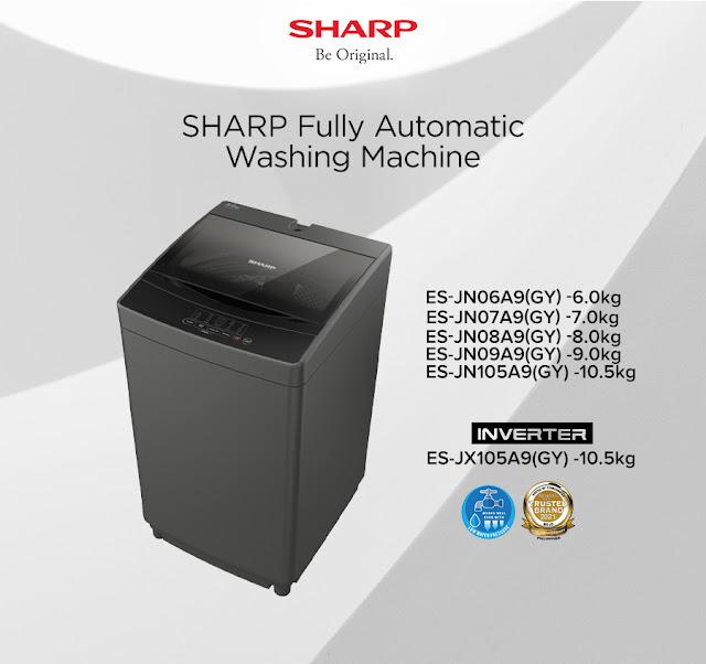 Sharp No Holes Tub Fully Automatic Washing Machine