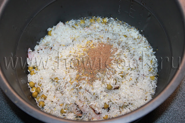рецепт риса с морепродуктами с пошаговыми фото