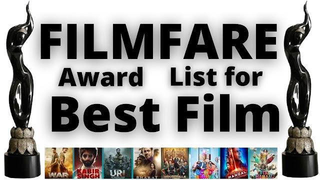 Winners of Filmfare Award for Best Movie