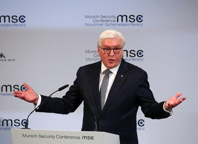Presidente tedesco Frank-Walter Steinmeier dice che il ordine mondiale e minacciato da Stati Uniti, Cina e Russia