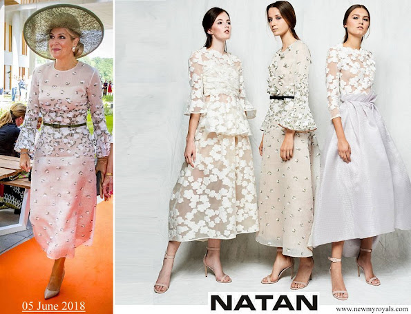 Queen Maxima wore Natan Lace Dress from 2018 Collection