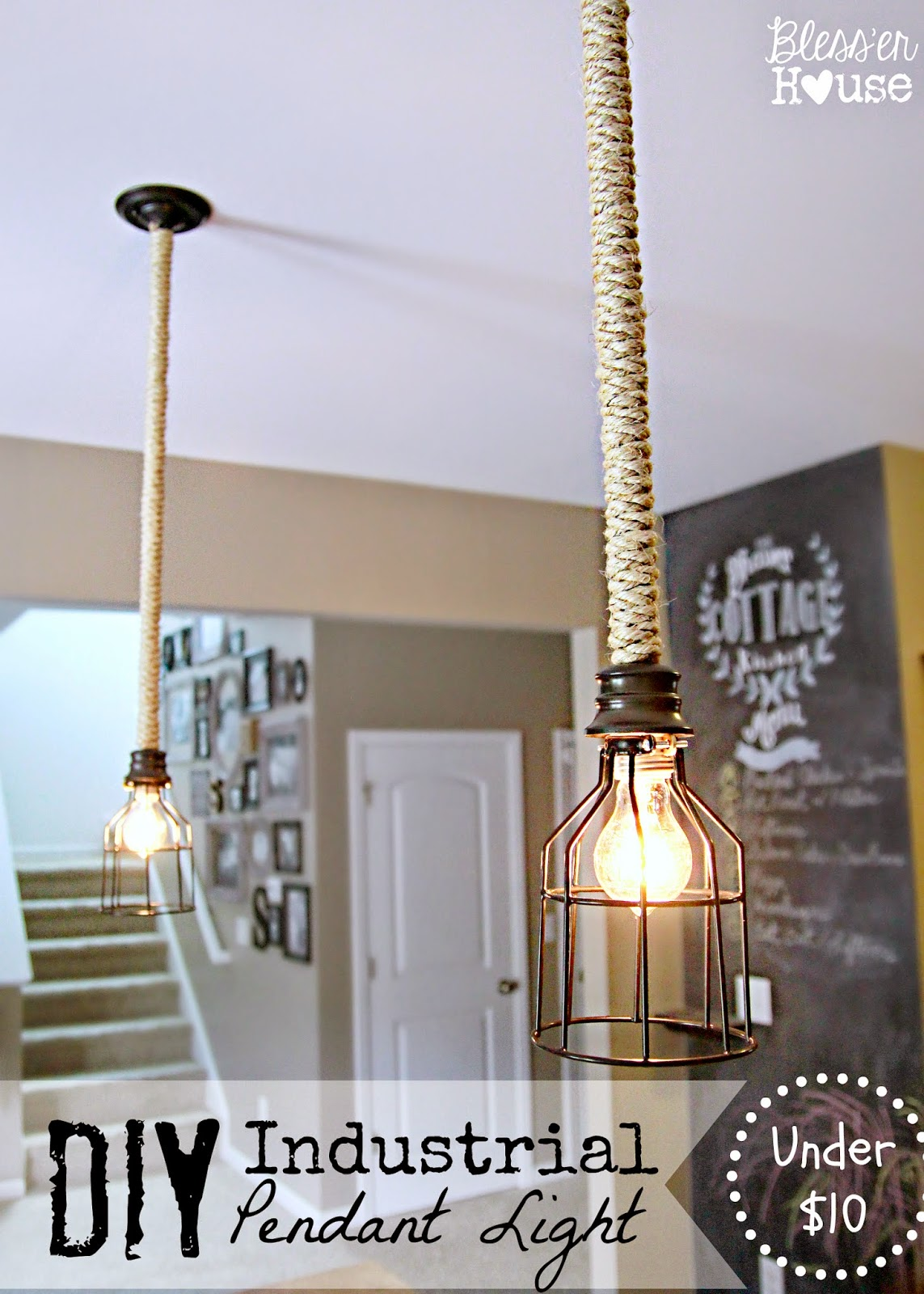 DIY Mason Jar Vanity Light Blesser House - Kitchen fan light fixtures