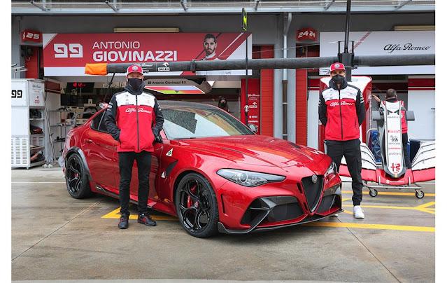 Οι Kimi Räikkönen και Antonio Giovinazzi