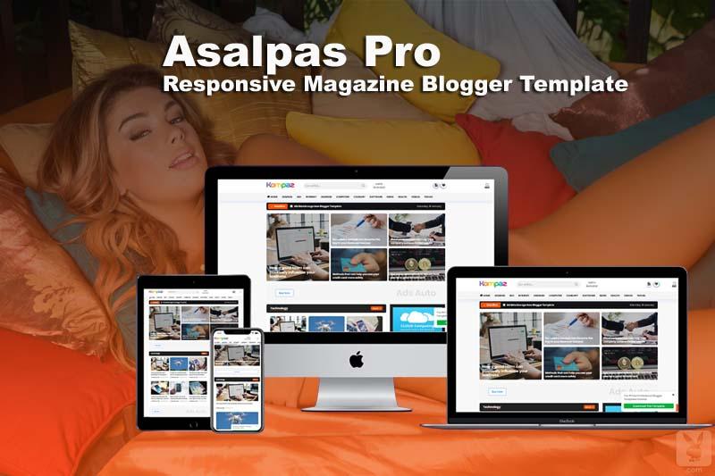 Asalpaz Premium Responsive Magazine Blogger Template