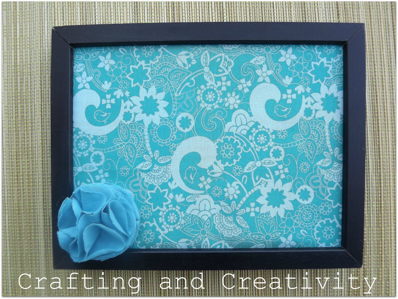 Crafting And Creativity Diy Fabric Covered Bulletin Board