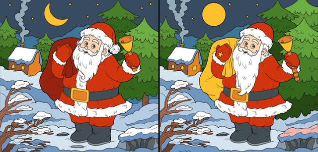 Spot the Difference: Christmas Edition Quiz Answers (Version 2)   Quiz Help