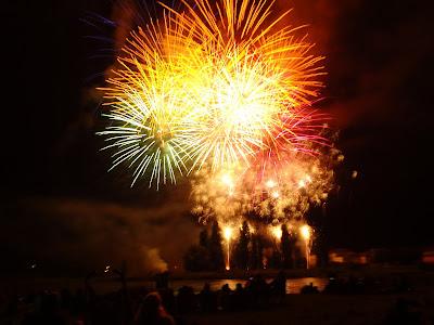 Fuegos artificiales del 14 de julio en Amboise
