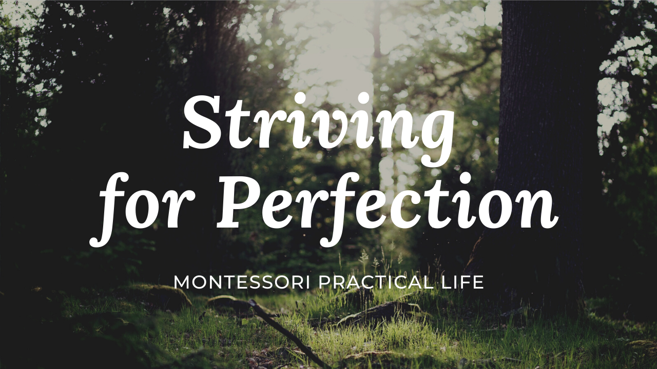 Montessori Practical Life: Striving for perfection