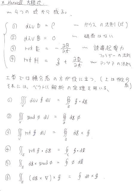 電気磁気工學を學ぶ: Maxwell方程式