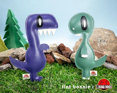 Designer Con 2019 Exclusive Flat 2 Dumb Dinos Plush Figure Set by Flat Bonnie x Nathan Hamill