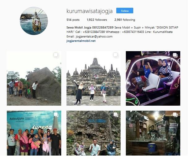 Instagram Kuruma Rental Mobil & Wisata