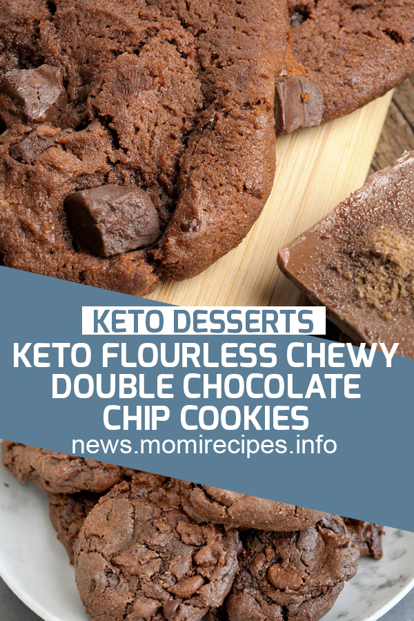 Keto Flourless Chewy Double Chocolate Chip Cookies | keto recipe, chocolate chip, keto dessert, cake recipe, dessert recipes, chocolate cake recipe, carrot cake recipe, chocolate cake, easy cake recipes, cheesecake recipe, easy dessert recipes, baking recipes, sponge cake recipe, simple cake recipe, fruit cake recipe, vanilla cake recipe, pound cake recipe, chocolate recipes, apple cake recipe. #ketodessert #cakerecipes #nobake #ketoflourless #chewydouble #chocolatechipscookies