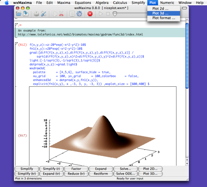 WxMaxima is a document based interface for the computer
