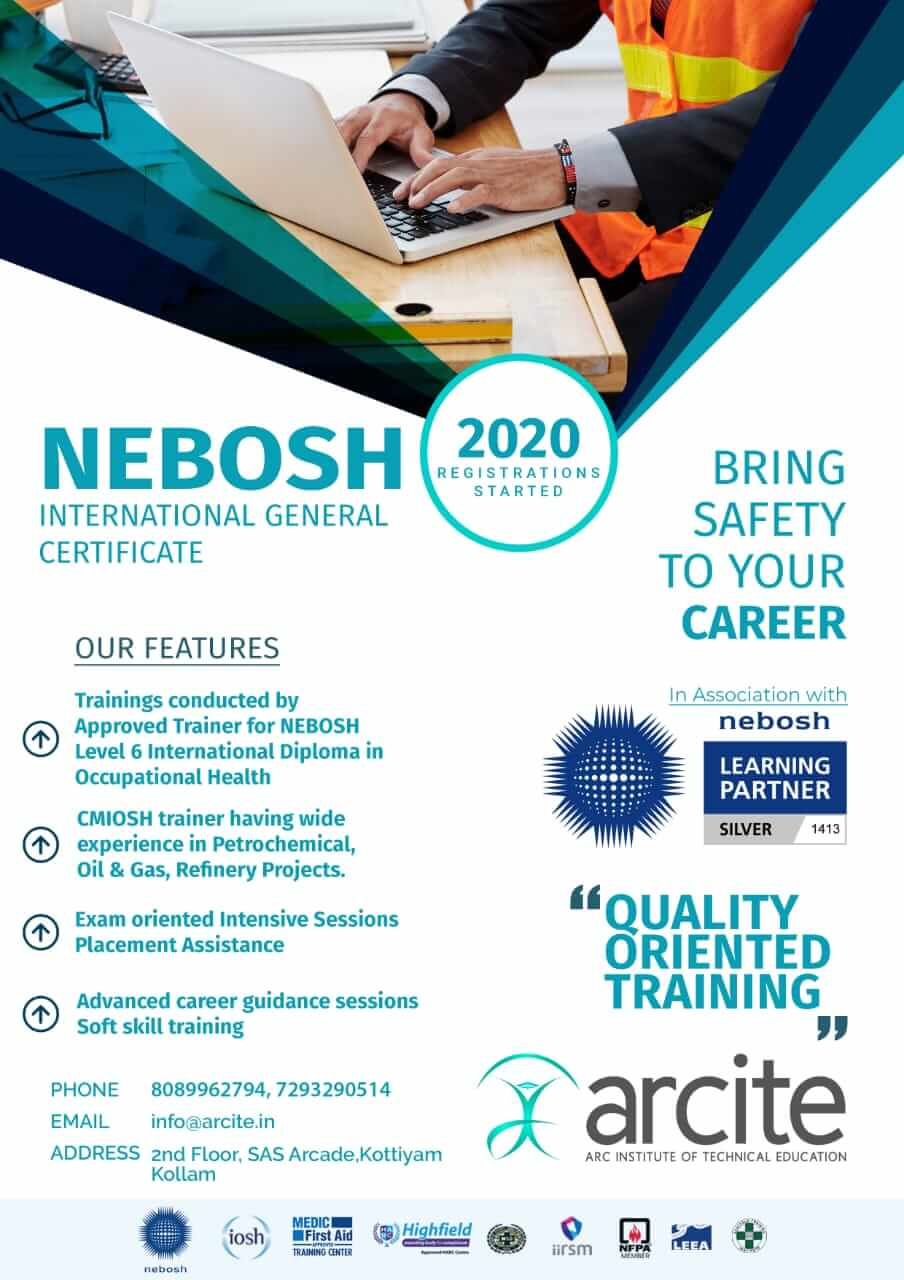 nebosh course safety job ktu