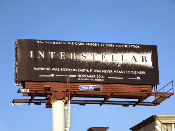 Interstellar movie teaser billboard