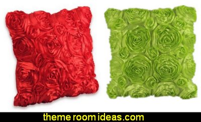 Rose Flower Couch Cushion Cover rose petal throw pillows
