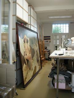 Restauratie schilderij groot formaat