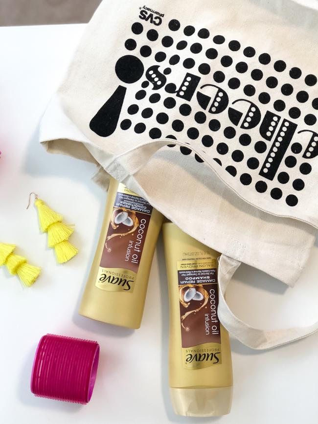 cvs reusable bag suave gold shampoo and conditioner