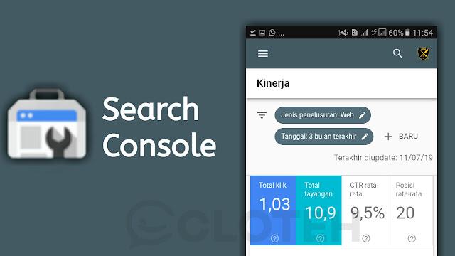 Aplikasi Search Console untuk Mempercepat index Blog