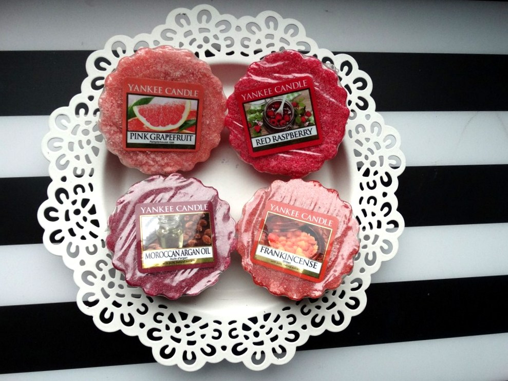 Yankee Candle: Pink Grapefruit, Frankincense, Red Raspberry i Moroccan Argan Oil