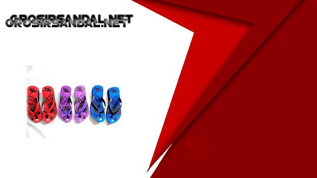 Sandal Jepit Cewe Spon Motif BJG - Pusat Sandal Murah 4.000