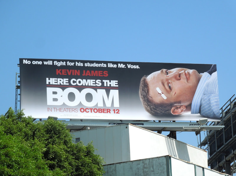 Here Comes the Boom movie billboard
