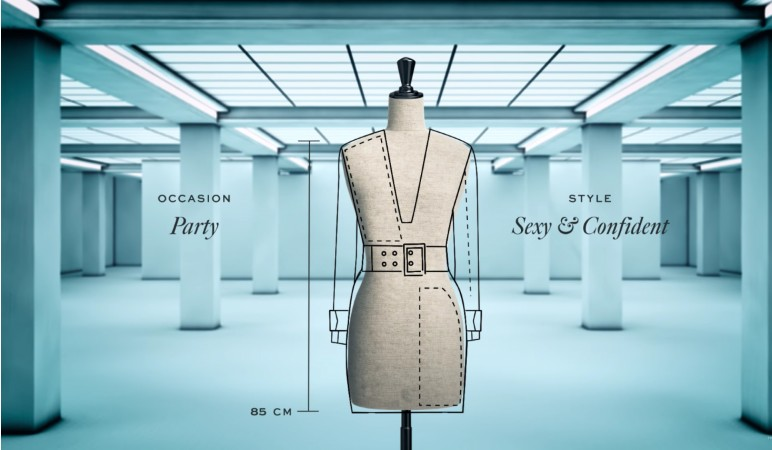 Coded Couture Data dress